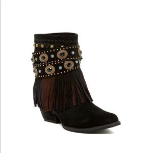 Sbicca Verse Leather Western Boot Black